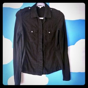 Standard James Perse Black Long Sleeve Shirts with